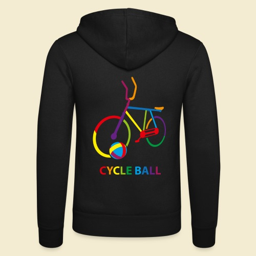 Radball | Cycle Ball Rainbow - Unisex Kapuzenjacke von Bella + Canvas