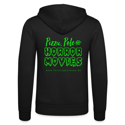 Pizza, Pole and Horrormovies - NEONGREEN - Unisex Kapuzenjacke von Bella + Canvas
