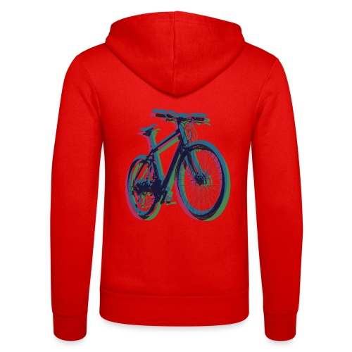 Bike Fahrrad bicycle Outdoor Fun Mountainbike - Unisex Hooded Jacket by Bella + Canvas