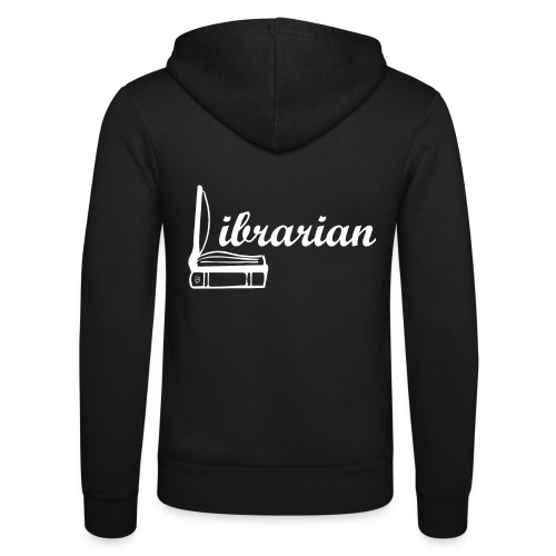 0325 Librarian Librarian Cool design - Unisex Hooded Jacket by Bella + Canvas
