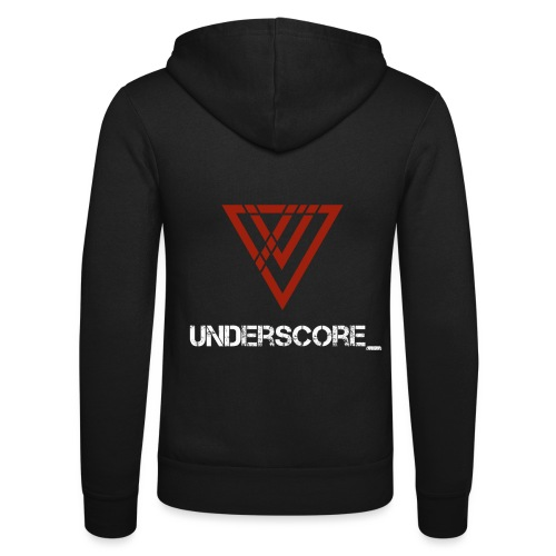 Underscore_ Red_White - Unisex Hooded Jacket by Bella + Canvas