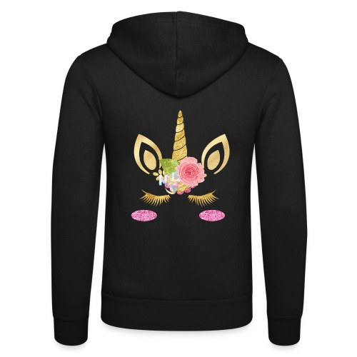 unicorn face - Unisex Kapuzenjacke von Bella + Canvas