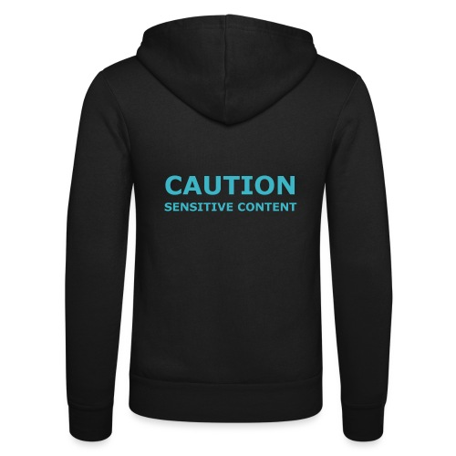 Caution men's t-shirt - Unisex Hooded Jacket by Bella + Canvas