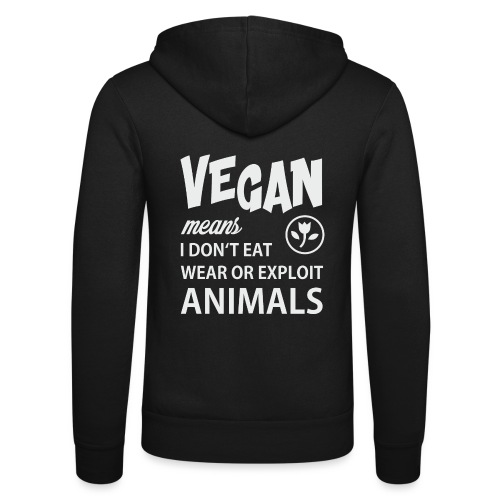 WHAT VEGAN MEANS - Unisex Kapuzenjacke von Bella + Canvas