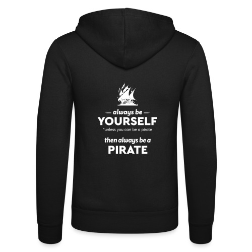 Be a pirate! (light version) - Unisex Hooded Jacket by Bella + Canvas