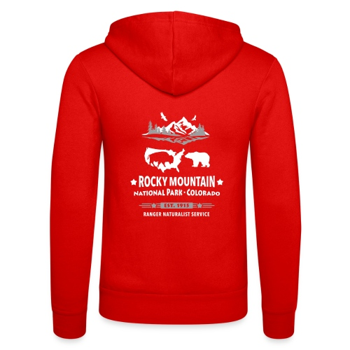 Rocky Mountain Nationalpark Berg Bison Grizzly Bär - Unisex Hooded Jacket by Bella + Canvas
