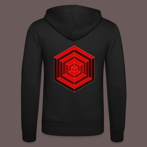 Hexagon Cube - Unisex hættejakke fra Bella + Canvas