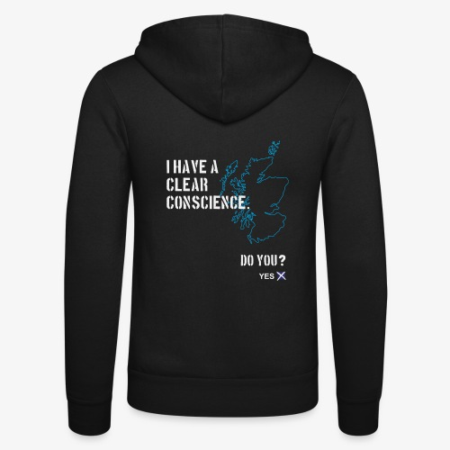 Clear Conscience - Unisex Hooded Jacket by Bella + Canvas