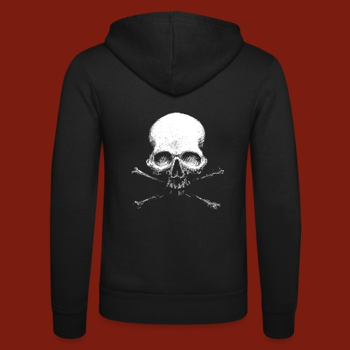 Old Skull - Unisex Hooded Jacket by Bella + Canvas