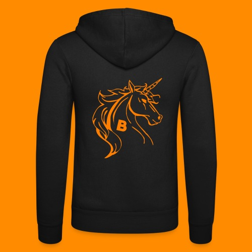 orange biodusty unicorn shirt - Unisex hoodie van Bella + Canvas