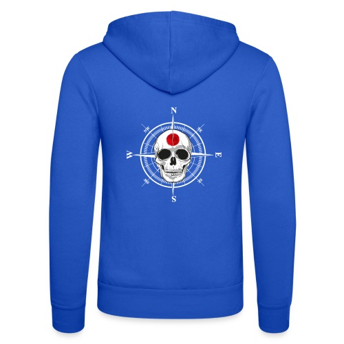Skull Japanese - Unisex Hooded Jacket by Bella + Canvas