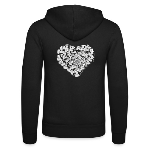 heart for art street love - Unisex hættejakke fra Bella + Canvas