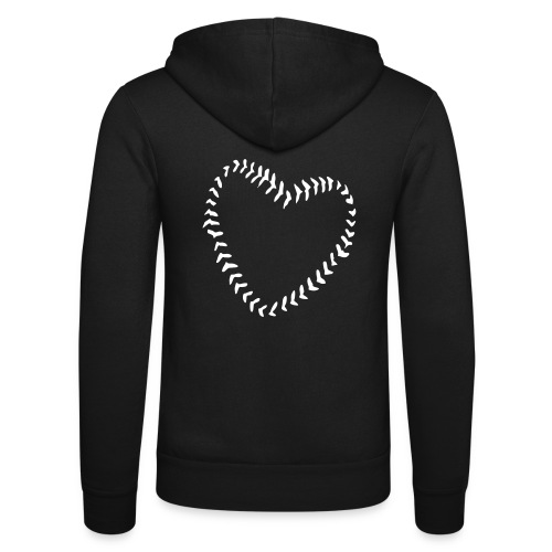 2581172 1029128891 Baseball Heart Of Seams - Unisex Hooded Jacket by Bella + Canvas