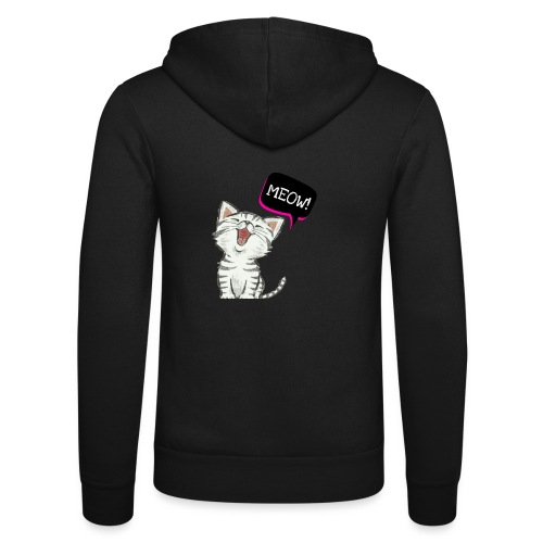 Cat meow - Unisex Hooded Jacket by Bella + Canvas