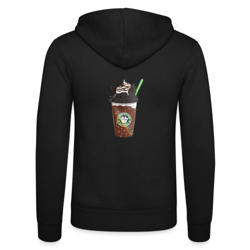 Catppucino Dark Chocolate - Unisex Hooded Jacket by Bella + Canvas
