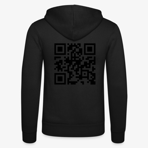 QR Code - Unisex Hooded Jacket by Bella + Canvas