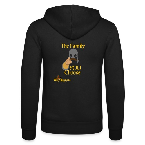 The Family You Choose - Unisex Hooded Jacket by Bella + Canvas