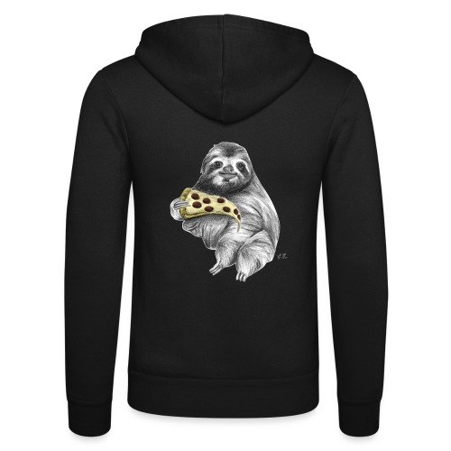 Slot Eating Pizza - Unisex Hooded Jacket by Bella + Canvas