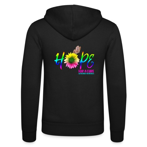 Hope For A Cure Alzheimer Awareness - Unisex Hooded Jacket by Bella + Canvas