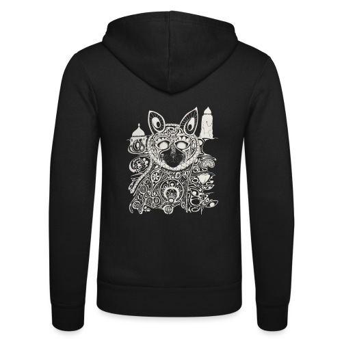 The Heart Is A Golden Fractal - Unisex Hooded Jacket by Bella + Canvas