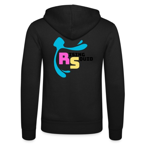 Rising Squid Logo - black - Unisex Hooded Jacket by Bella + Canvas