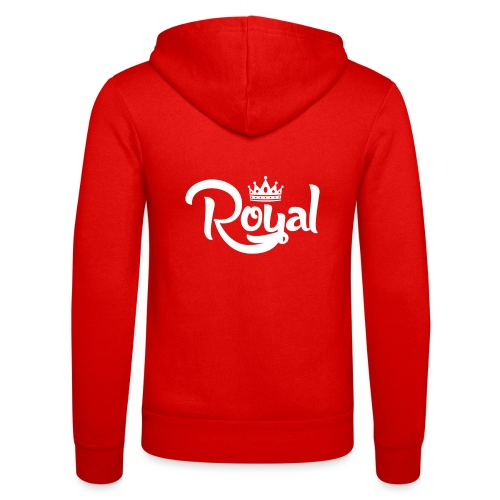 Royal Logo White Edition - Unisex Hooded Jacket by Bella + Canvas