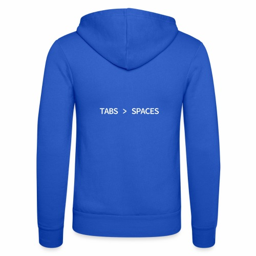 Tabs vs Spaces - Programmer's Tee - Unisex Hooded Jacket by Bella + Canvas