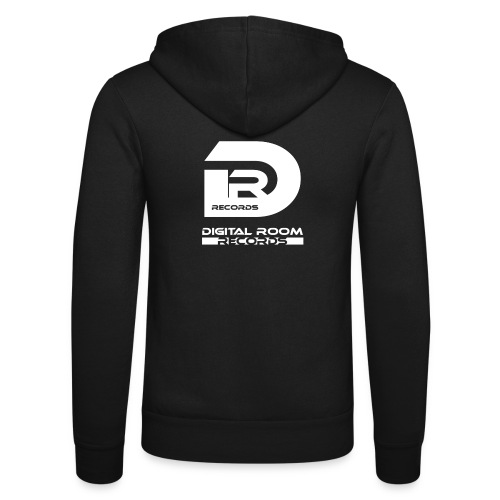 Digital Room Records Official Logo white - Unisex Hooded Jacket by Bella + Canvas