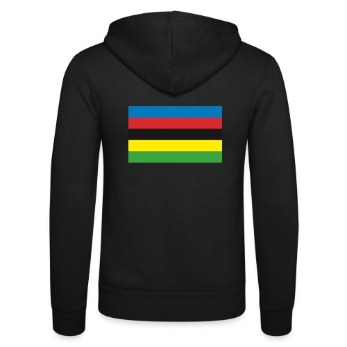 Cycling_World_Champion_Rainbow_Stripes-png - Unisex hoodie van Bella + Canvas