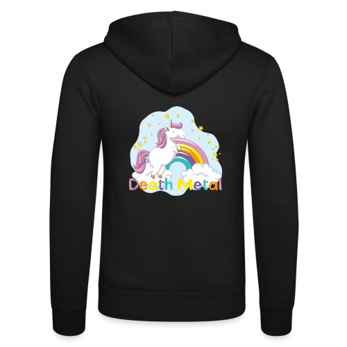unicorn death metal - Unisex hoodie van Bella + Canvas