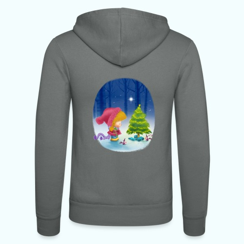 Christmas 1 - Unisex Hooded Jacket by Bella + Canvas