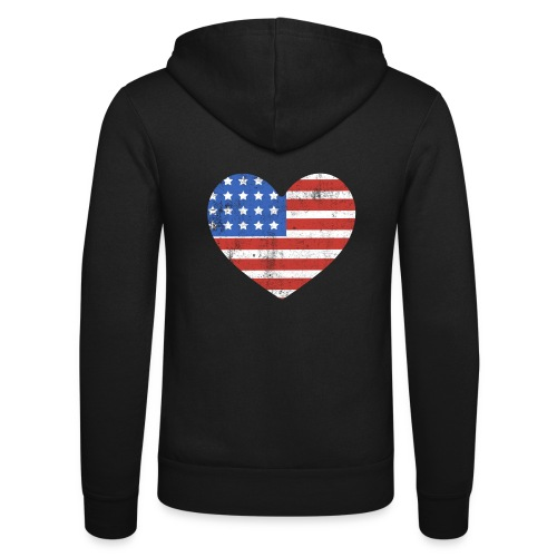 American Heart - Unisex Hooded Jacket by Bella + Canvas