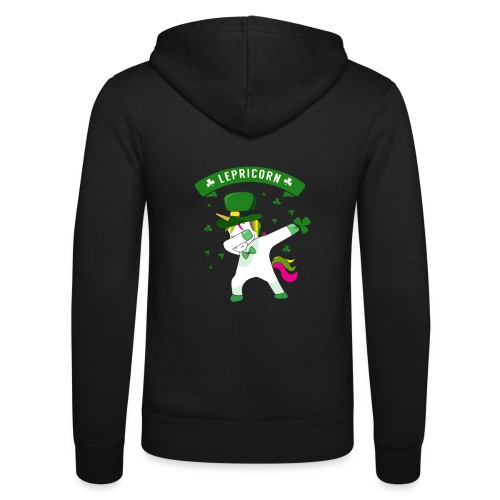 Lepricorn - St. patricks Day Unicorn dab pose - Unisex Kapuzenjacke von Bella + Canvas