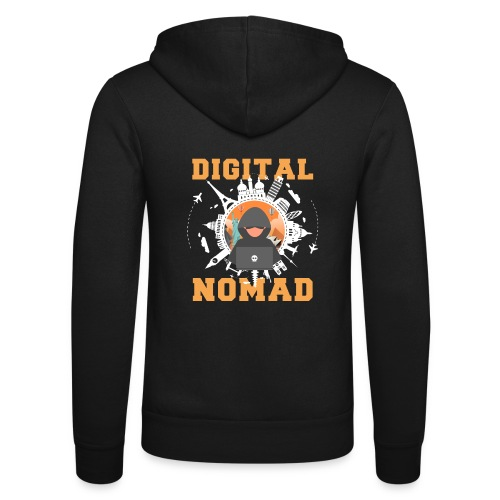 Digital Nomad - Unisex Kapuzenjacke von Bella + Canvas