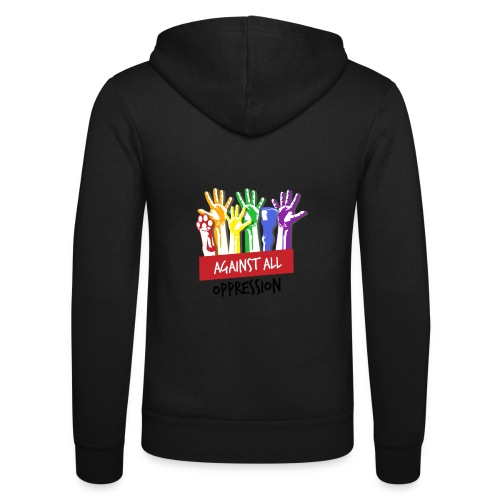 Against All Oppression - Unisex hoodie van Bella + Canvas