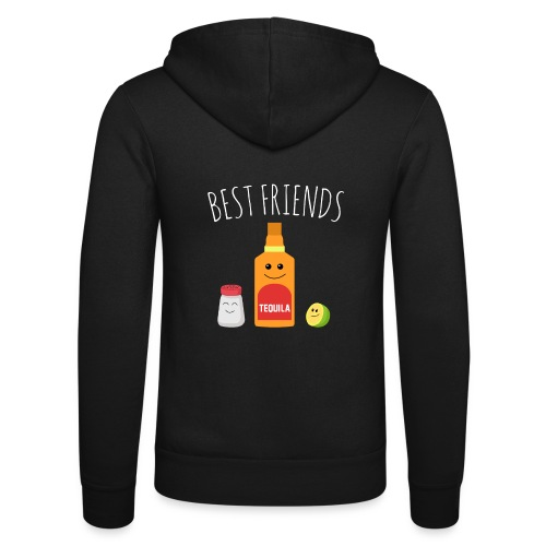 Best Friends - Tequila - Unisex Hooded Jacket by Bella + Canvas