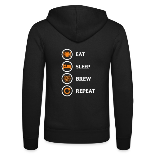 Eat Sleep Brew Repeat Brewers Gift - Unisex Hooded Jacket by Bella + Canvas