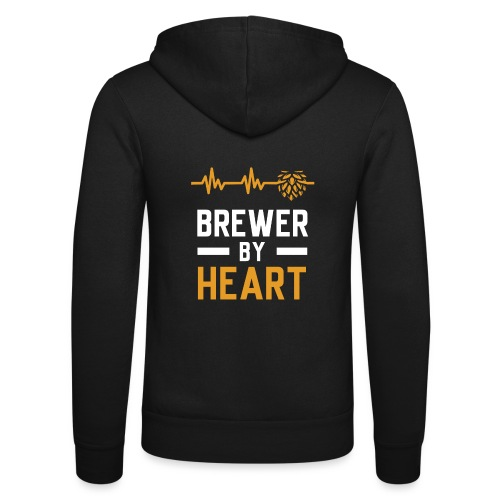 Brewer with heart - Unisex Hooded Jacket by Bella + Canvas