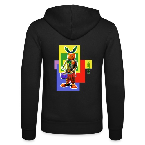 smARTkids - Slammin' Rabbit - Unisex Hooded Jacket by Bella + Canvas