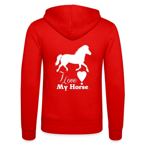 I love white horse - Unisex Bella + Canvas -hupputakki
