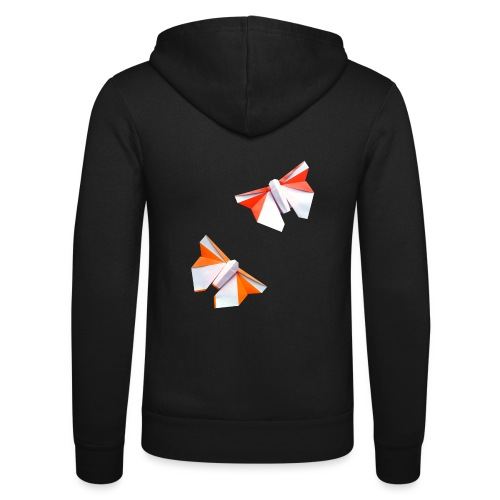 Butterflies Origami - Butterflies - Mariposas - Unisex Hooded Jacket by Bella + Canvas