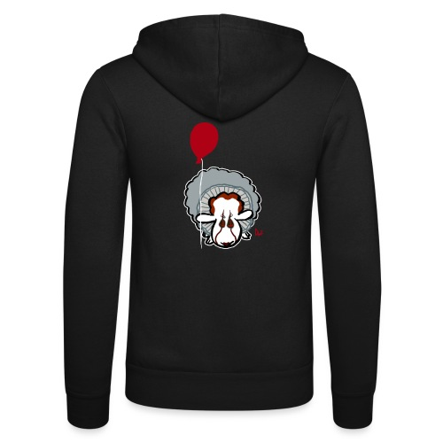 Evil Clown Sheep from IT - Unisex Hooded Jacket by Bella + Canvas