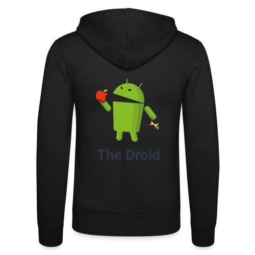 The Droid eats apple - Felpa con cappuccio di Bella + Canvas