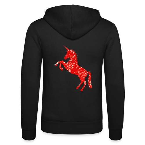 unicorn red - Bluza z kapturem Bella + Canvas typu unisex