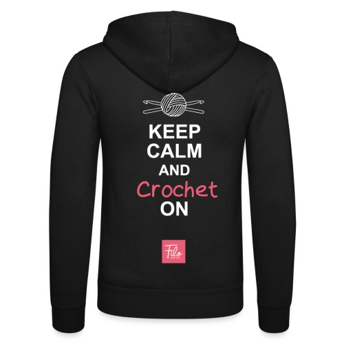 Keep calm and Crochet on - Felpa con cappuccio di Bella + Canvas
