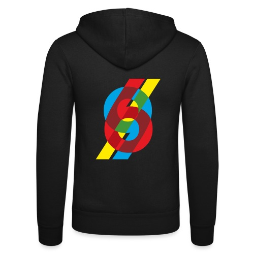 colorful numbers - Unisex Hooded Jacket by Bella + Canvas
