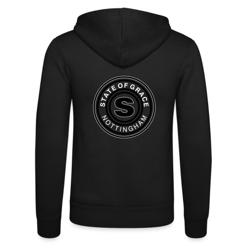 state of grace logo - Unisex Hooded Jacket by Bella + Canvas