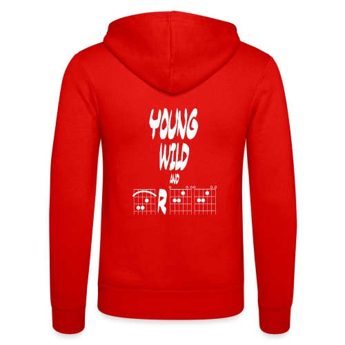 Young wild and free in guitar chords - Unisex Hooded Jacket by Bella + Canvas