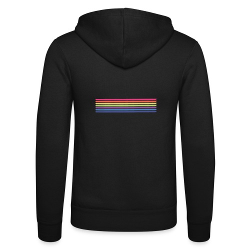 Colored lines - Unisex Hooded Jacket by Bella + Canvas