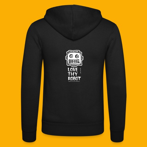 Dat Robot: Support this cute face - Unisex hoodie van Bella + Canvas